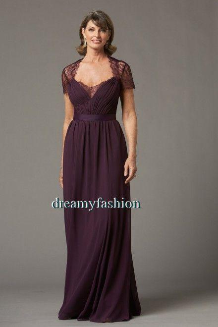 514c7bf0628 Custom made 2014 Gorgeous hot sale vestido de madrinha Purple Vintage Lace  Plus Size Mother Of The Bride Dresses Cap Sleeves  149.00