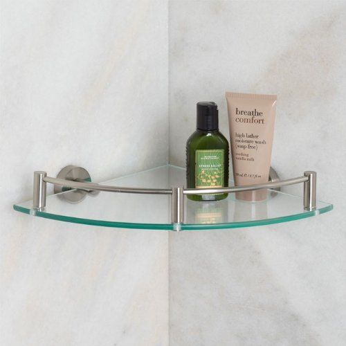 Bristow Collection Tempered Gl Corner Shelf Brushed Nickel By Whittington 39 95 The Is Perfect For