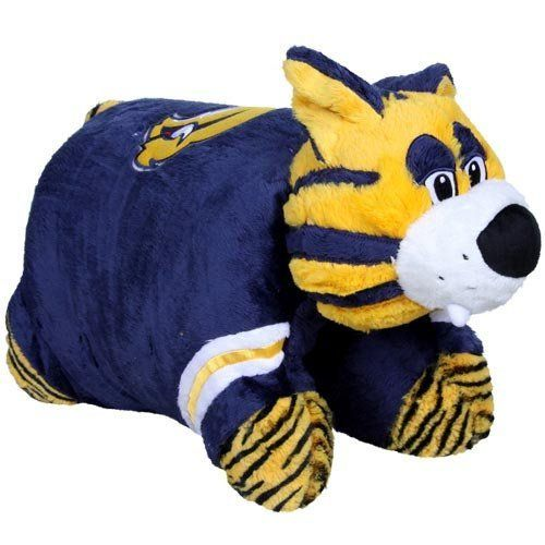 NHL Buffalo Sabres Pillow Pet by Fabrique Innovations. $35.95. Cuddle and snuggle with the Sabretooth Buffalo Sabres Pillow Pet by Fabrique! This unique and original pillow pet features your favorite team logo and colors in the shape of a mascot or unique animal.  Just unfasten its belly and the pet becomes an 18 inch pillow. Made of high quality, super-soft chenille with heavy-duty stitching.