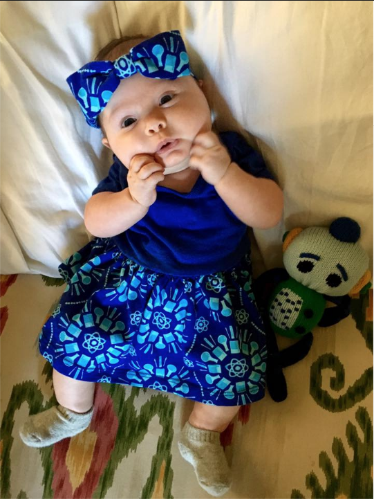 Felicia Day Page Liked · 36 mins via Facebook Mentions ·    After I wrote that post on baby girls' clothes not having rockets or Dinos on them, a company called Princess Awesome sent me a care package with the cutest dresses! Atoms and rockets and dragons oh my! Calliope appreciates it!!
