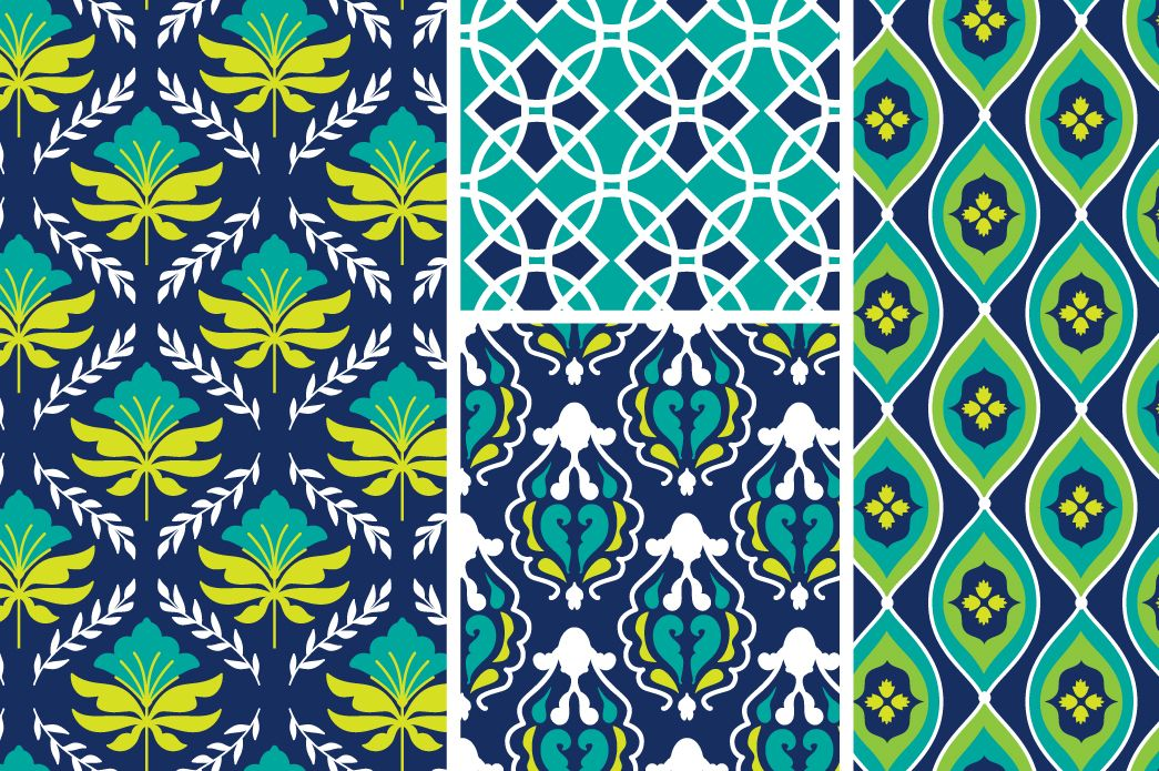 Botanica Isle Vector Patterns by Cocoa Mint on @creativemarket
