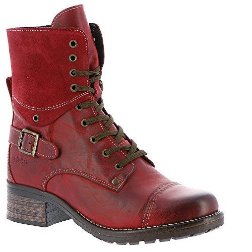 Taos Women's Crave Combat Boot – Red | Best Red Combat Boots for ...