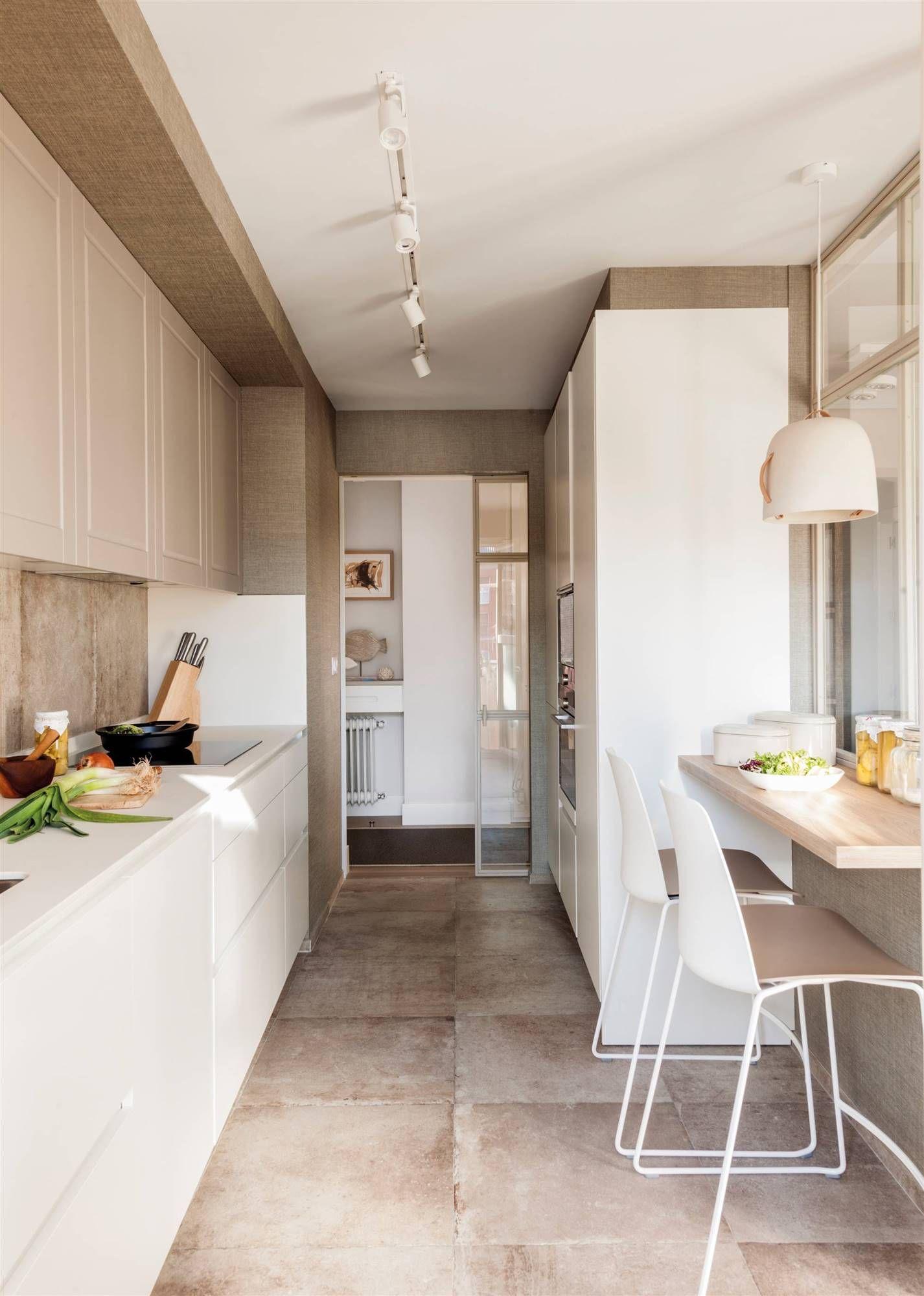 Una cocina pequeña coqueta y todoterreno  Cuisine de petit