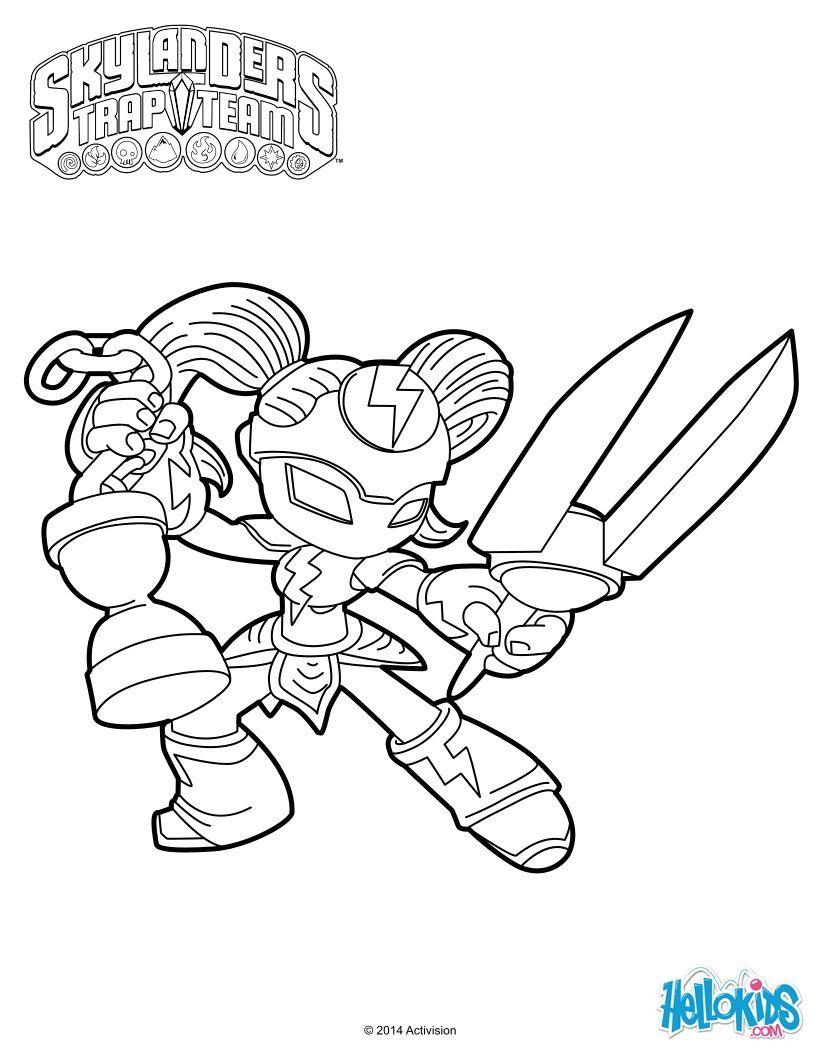 Skylanders Trap Team Coloring Pages Da C Ja Vu