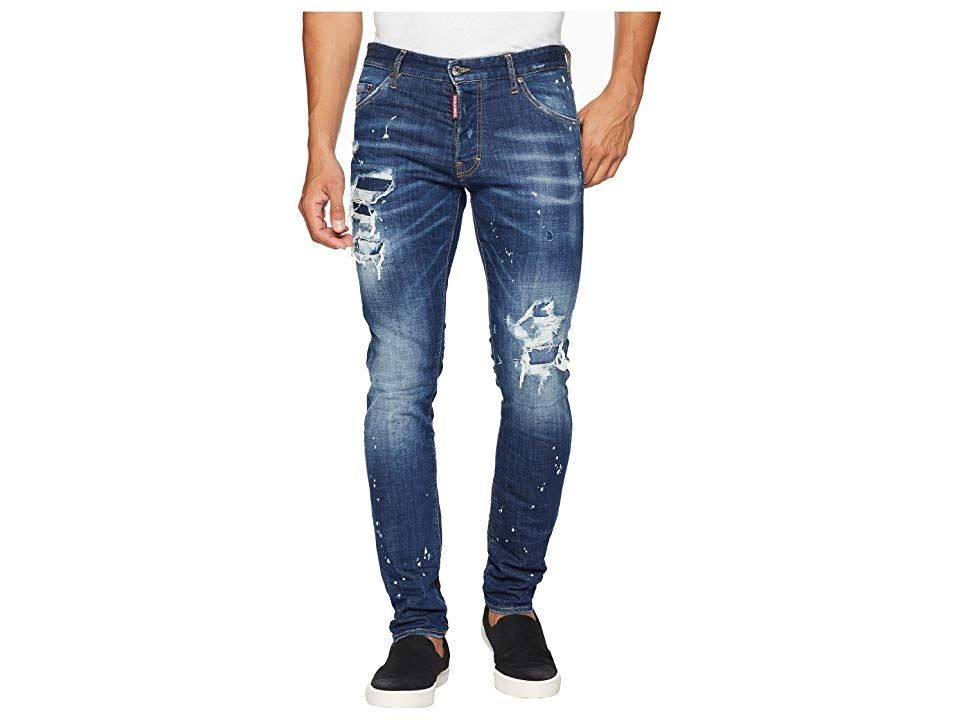 DSQUARED2 Cool Guy Jeans Blue Bleached Wash Mens Jeans Transform yourself into a fashion icon with the elite style of DSQUARED2 Cool Guy Jeans Slim fit Fitted waistline w...