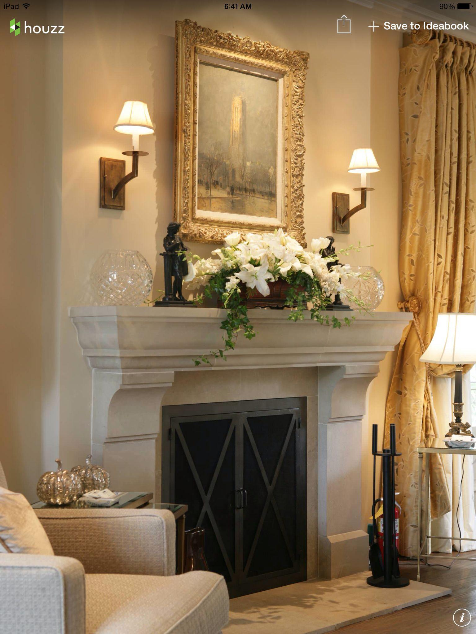 Decoraci n de chimenea adornos y detalles pinterest decoraci n de chimenea decoraci n y - Decoracion para chimeneas ...