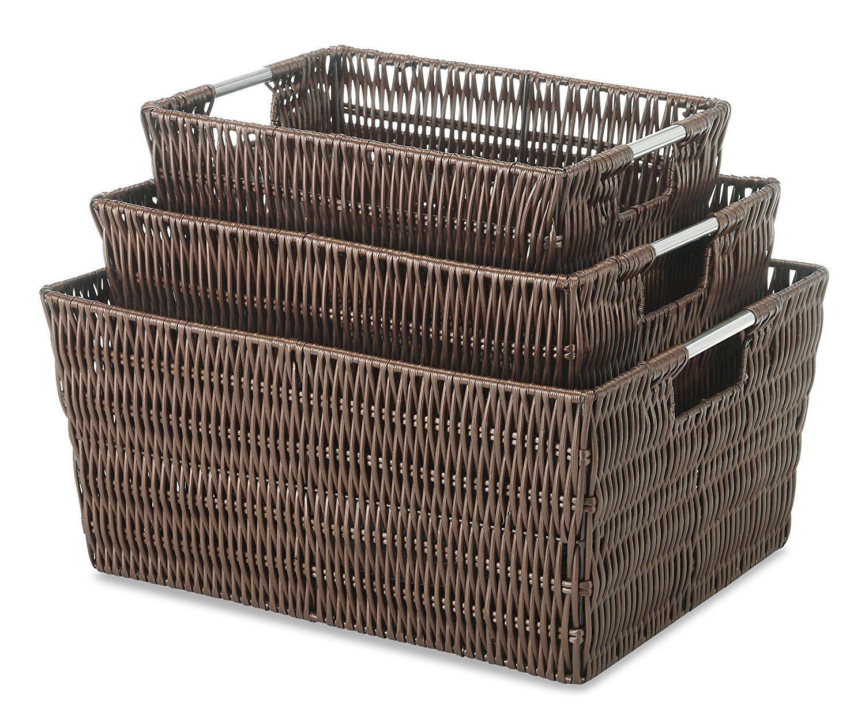 Java Whitmor Rattique Storage Tote Basket