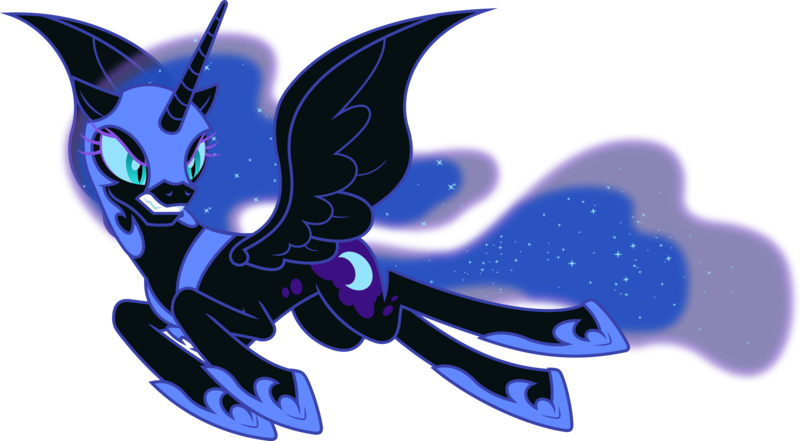 Hasbro My Little Pony MLP  Princess Luna Glitter Transparent Nightmare Moon Toy