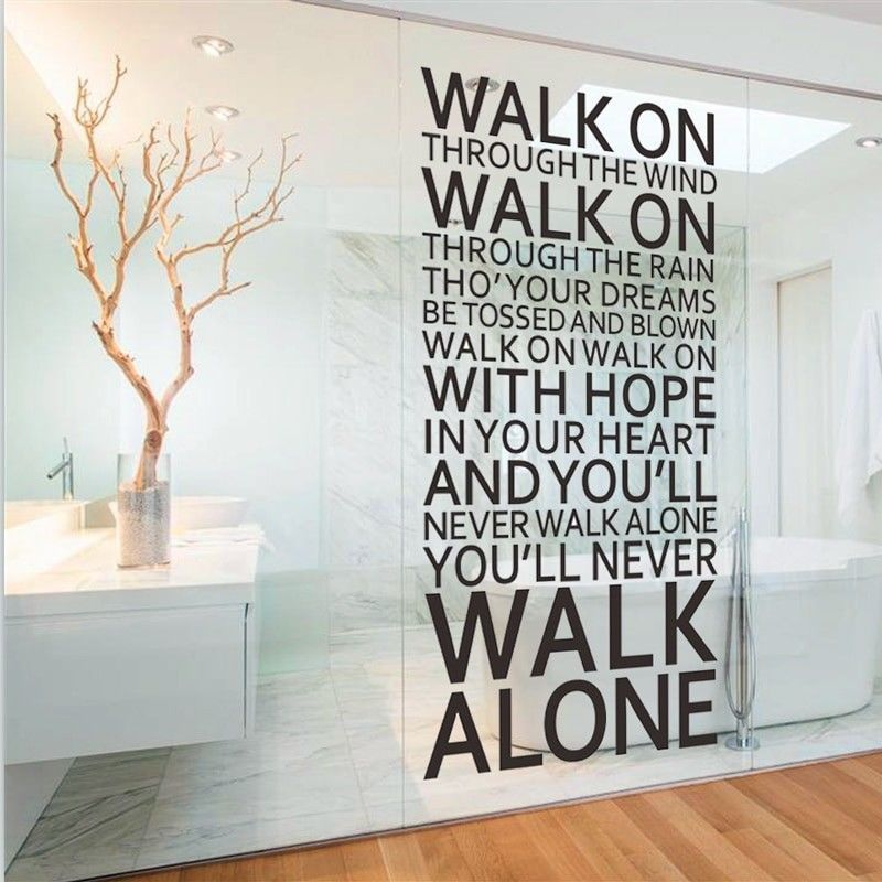 Inspirational Quotes Wall Sticker You Ll Never Walk Alone Liverpool Home Decor Unbranded Europe Wall Stickers Room Wall Decor Quotes Wall Stickers Home