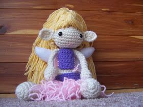 Materials Needed:  W.W.  Banana Cream, Aran, Baby Pink (used sport, but WW will work), and Lavender Yarn (use whatever colors you wis...