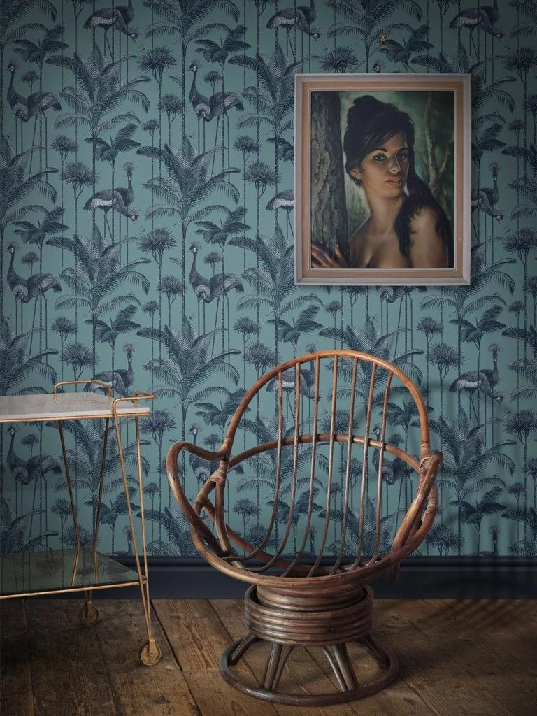 Tree Design Wallpaper Living Room: Interior Inspiration Image By Greg Seed