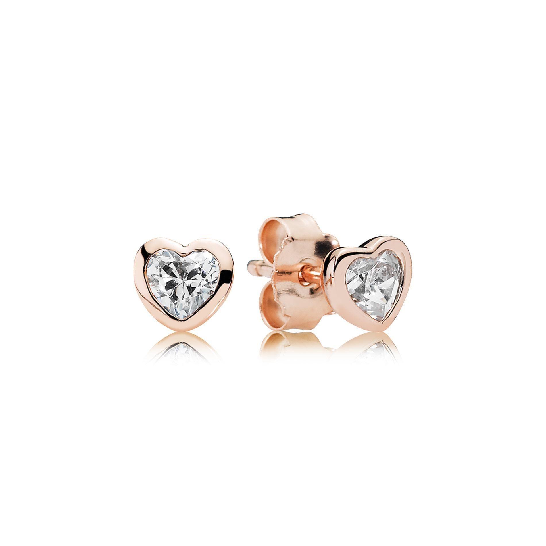 Pandora Rose One Love Earrings Item 19515758 Pandora Earrings Pandora Earrings Studs Pandora Jewelry