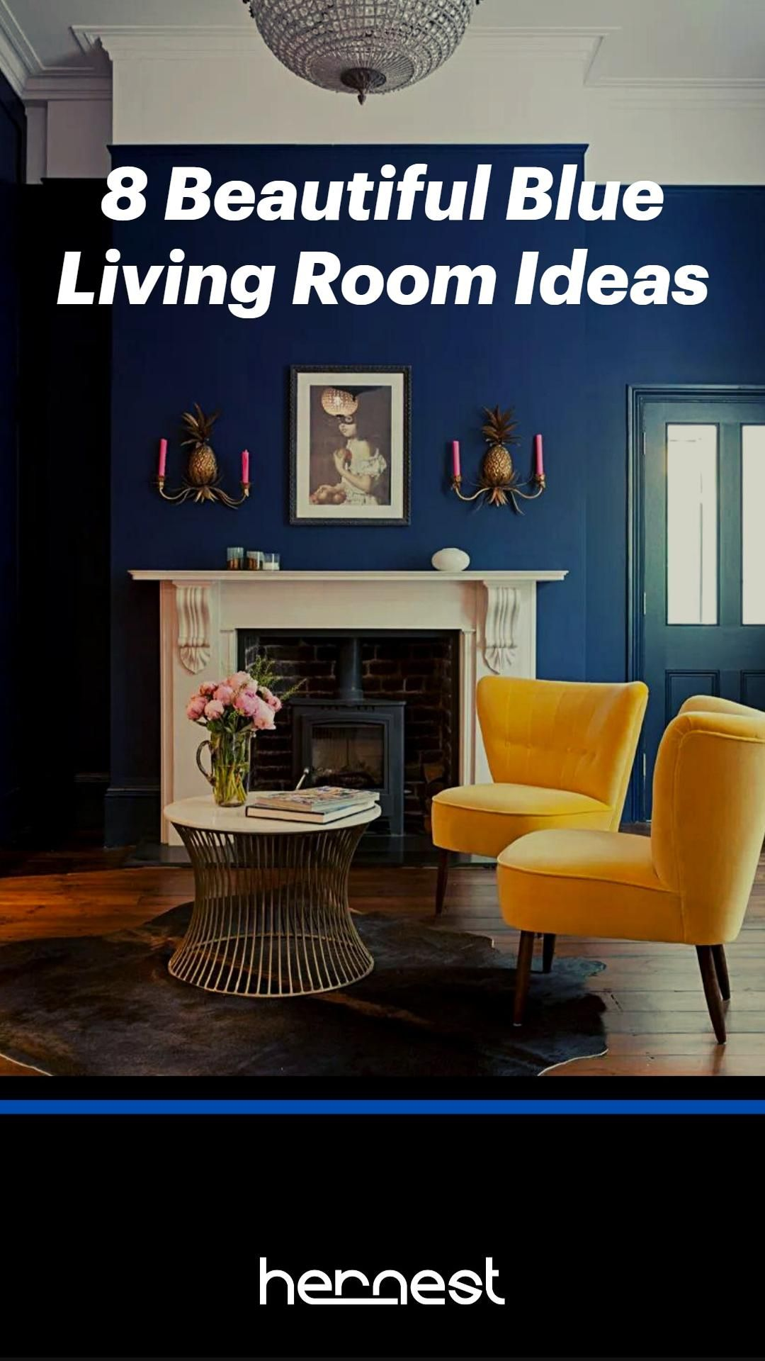 600+ Hernest Styling Tips   8 Beautiful Blue Living Room Ideas