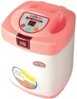 """An Italian reader of """"Asian Tofu"""" asked me if this pink Korean machine can be his time saving tofu maker. I answered in this post on vietworldkitchen.com: Homemade Tofu Shortcuts"""
