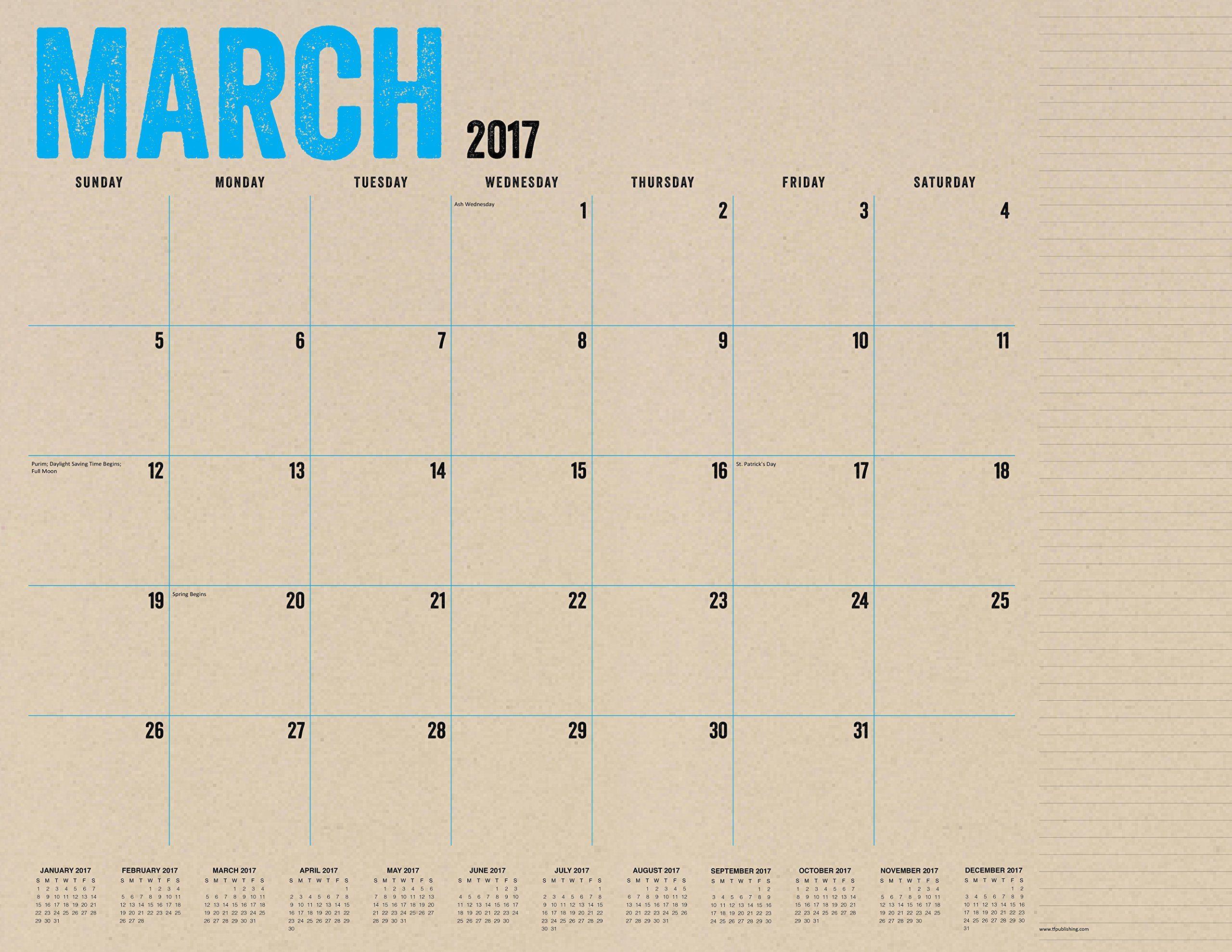 Kraft Academic Year Calendar Desk Blotter TF Publishing - Desk blotter calendar