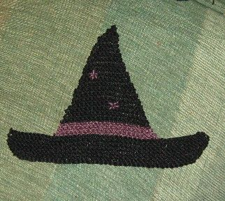 Witch's hat washcloth | Dishcloth knitting patterns