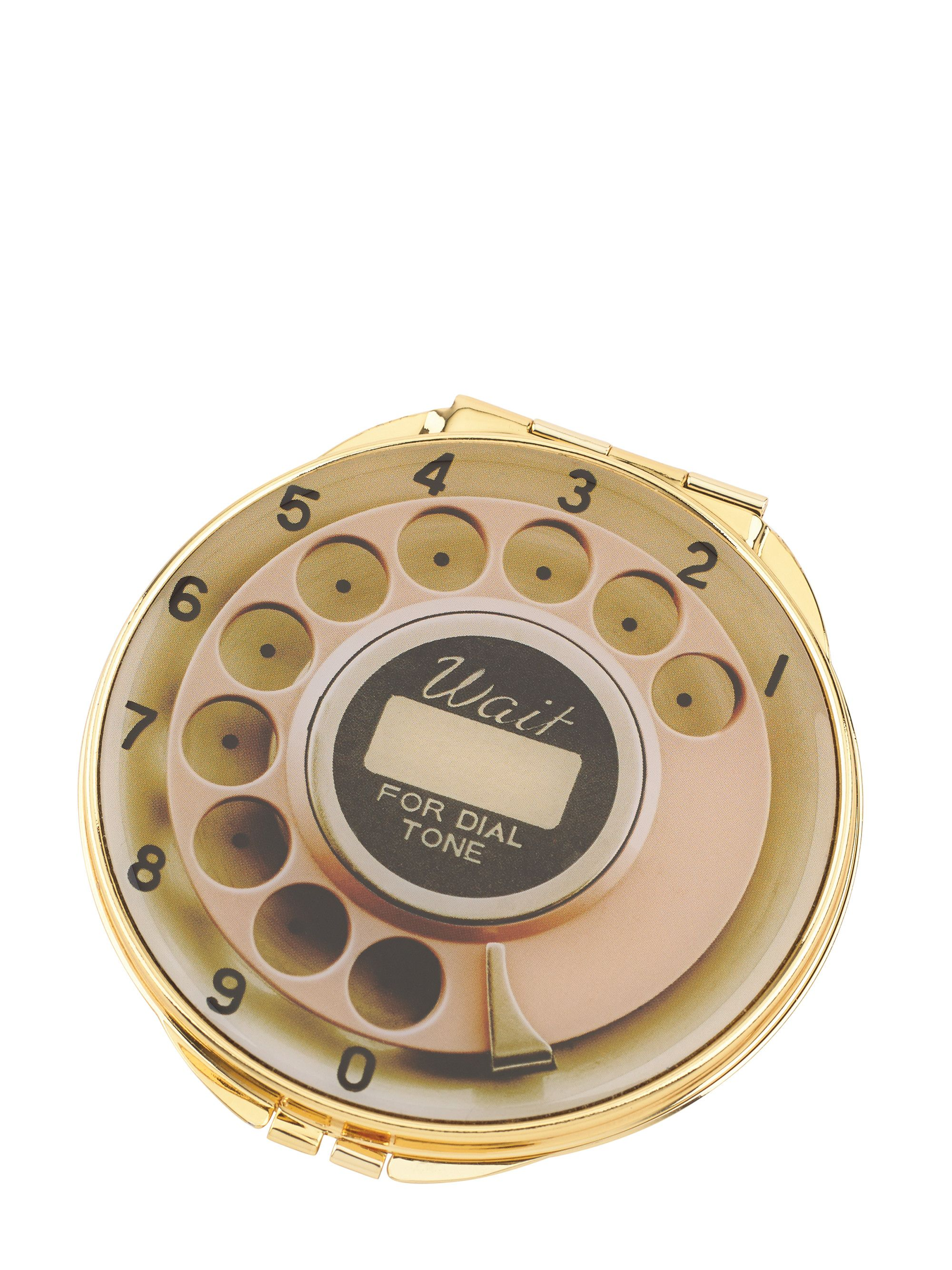 telephone dial compact mirror Compact mirror, Fashion