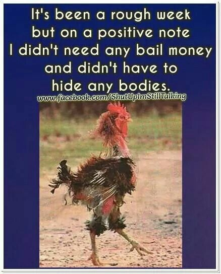 Rough Week Quote Posters Bail Money Funny Inspirational Quotes