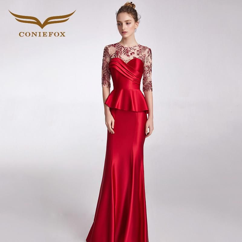 CONIEFOX 32811 red sweetheart Fashion sexy mermaid Ladies Retro elegance  Appliques prom dresses party evening dress b722e4fce73a