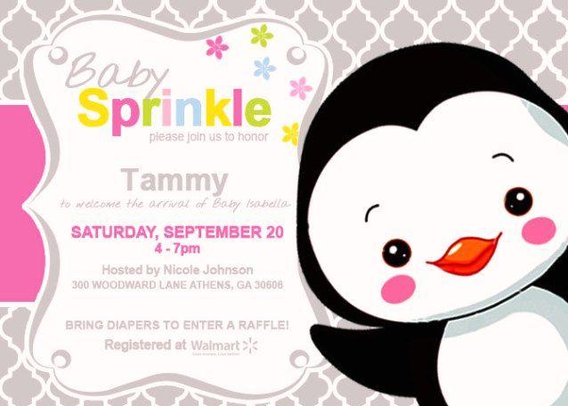 Penguin Baby Shower Invitations 4
