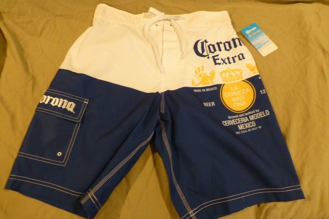 97c119e650282 corona beer short pants | Men's Corona Lined Board Swim Suit/Shorts Size S  with cargo pocket .