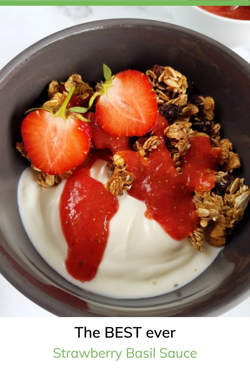 Strawberry basil sauce only 2 ingredients hint of