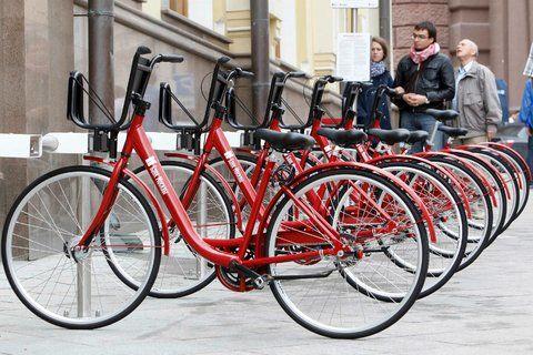 Red Square Bike Share With Images Bike Share Red Bike Bike