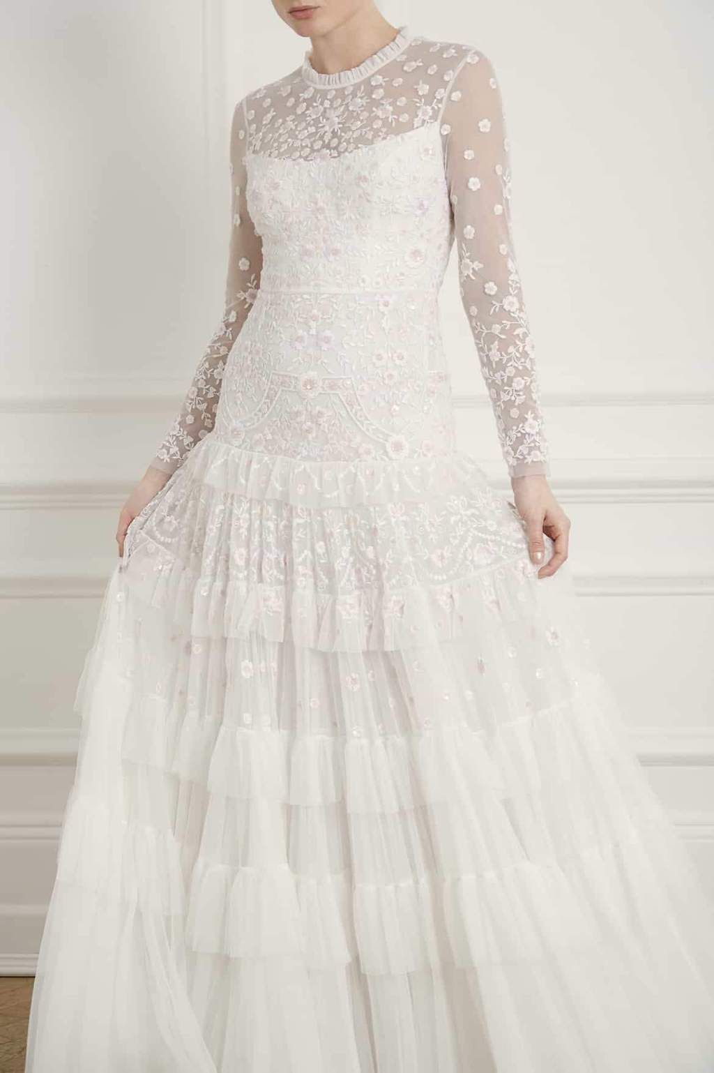 Needle & Thread Gracie Long Sleeved Bridal Gown, Ivory in 2020