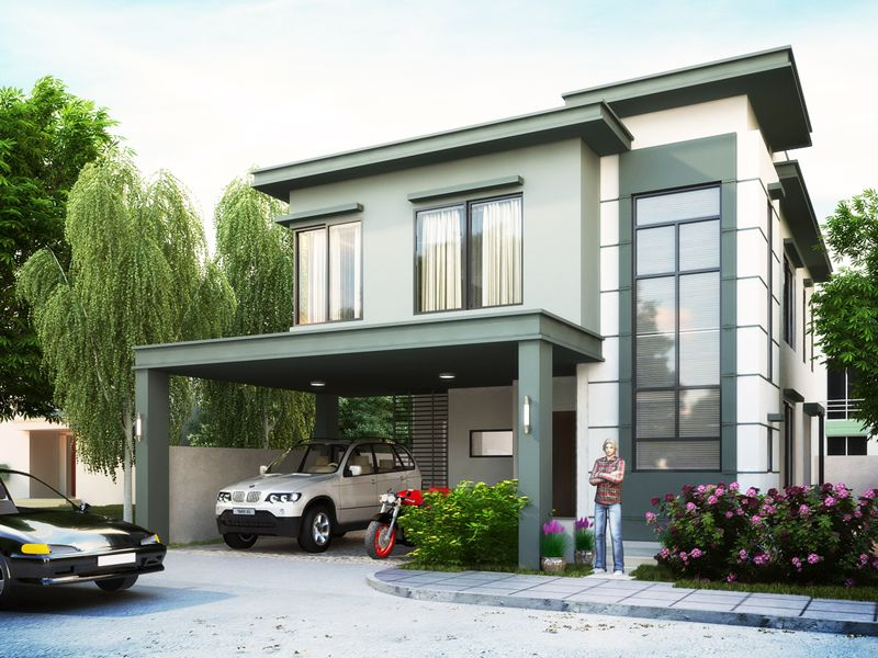 This Design Is A Two Story House With 4 Bedrooms Including