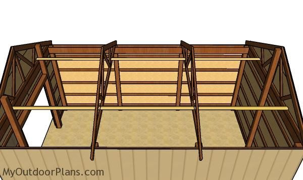 16 24 Pole Barn Roof Plans Pole Barn Plans Barn Roof Pole Barn