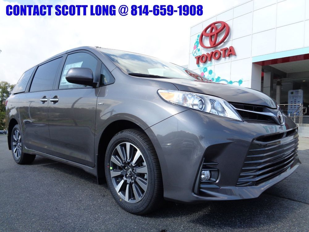 2019 Toyota Sienna New All Wheel Drive Xle Nav Package Awd Predawn Gray Navigation Leather Sunroof Ebay
