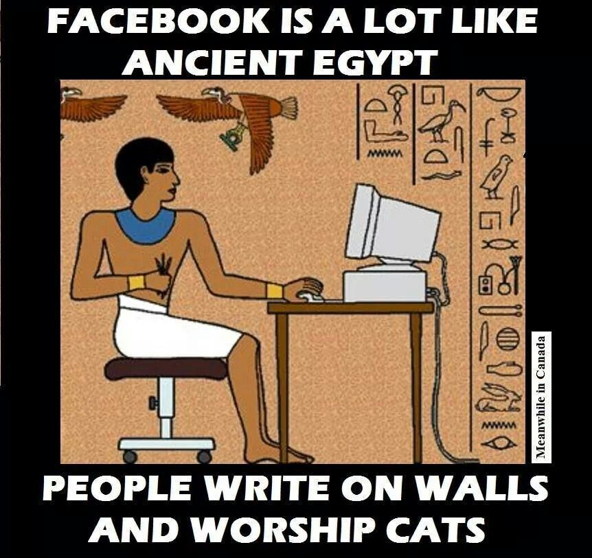 Funny Pictures About Egypt: Facebook Like Egypt. People Write On Walls And Worship