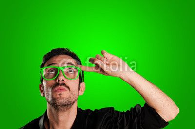 thoughtful man with green eyeglasses BUY IT FROM $1