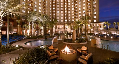 Wyndham Grand Orlando Resort, gorgeous at night, dueling pianos, bars, pools,  hot tubs no need to ever really leave resort