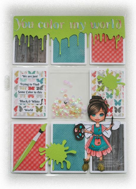 "Isn't she cute?? This wonderful stamp called ""Coco Faery Artist"" is one of the brand new stamps of today's release of Faery Ink, which means you can find her in the Faery Ink Shop! Design Pape"