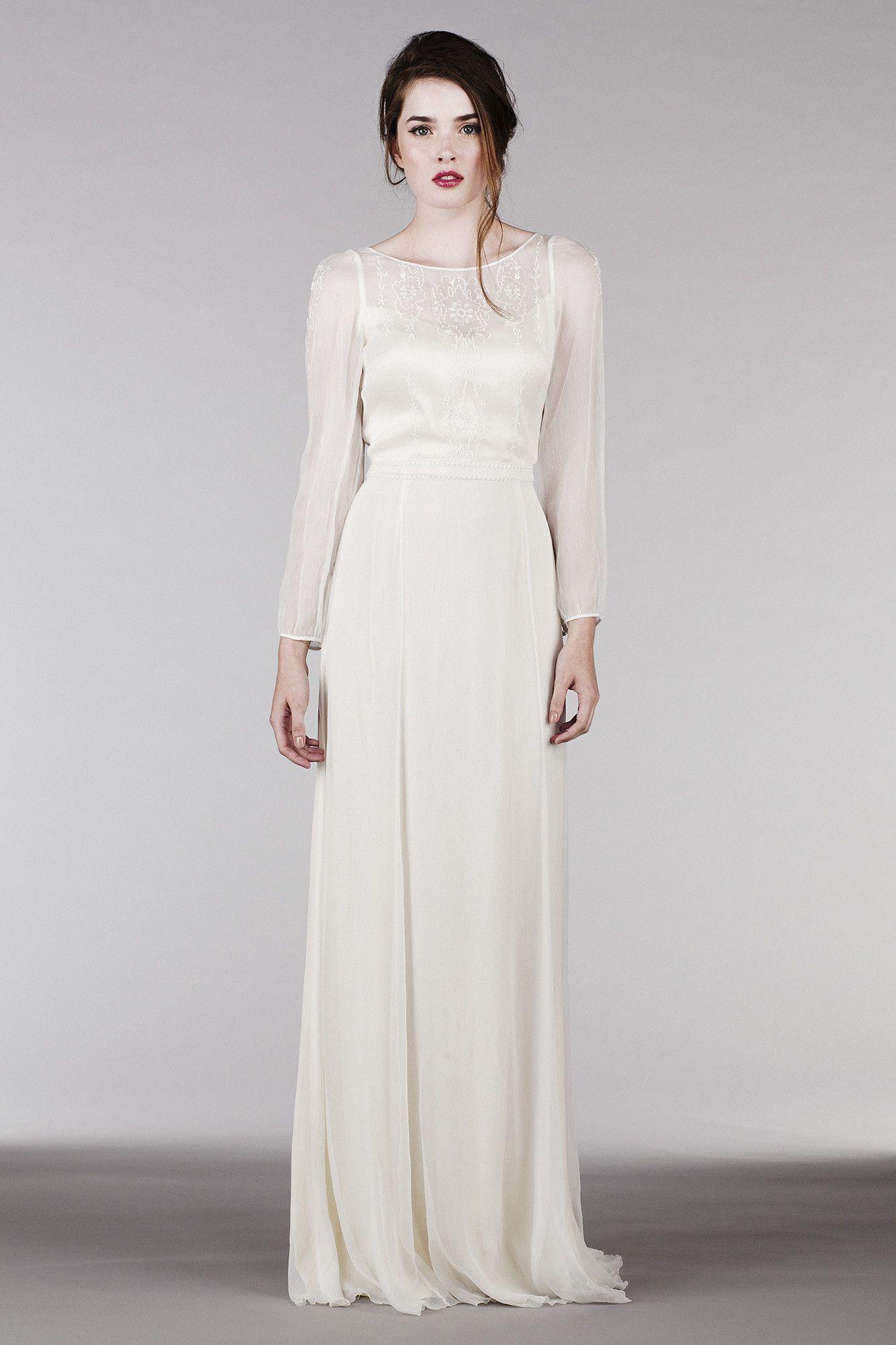RM6325 Long Sleeve Bohemian Wedding Dress Wedding