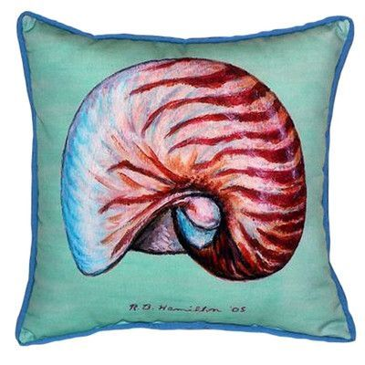 Betsy Drake Interiors Nautilus Indoor/Outdoor Euro Pillow
