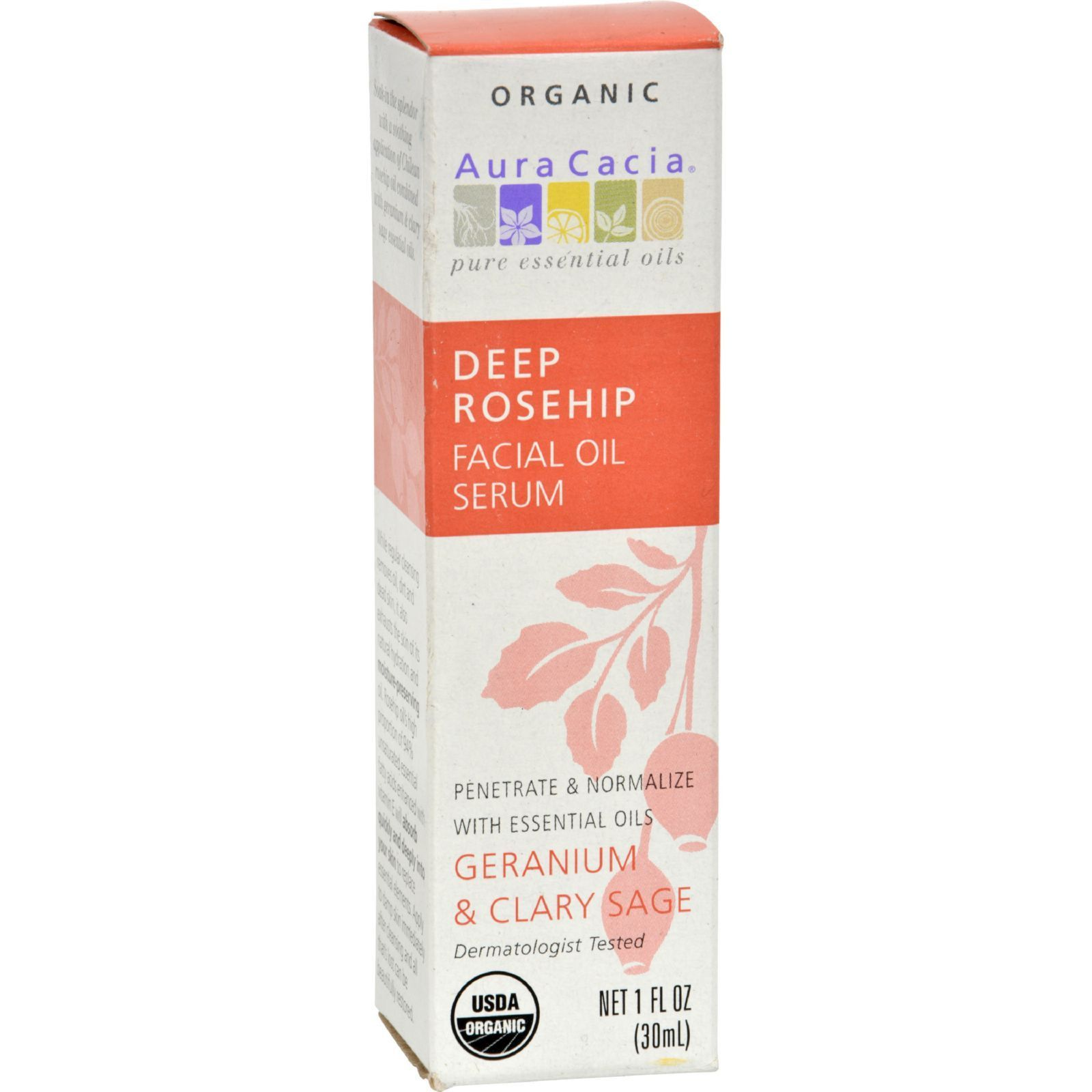 Aura Cacia Organic Face Oil Serum
