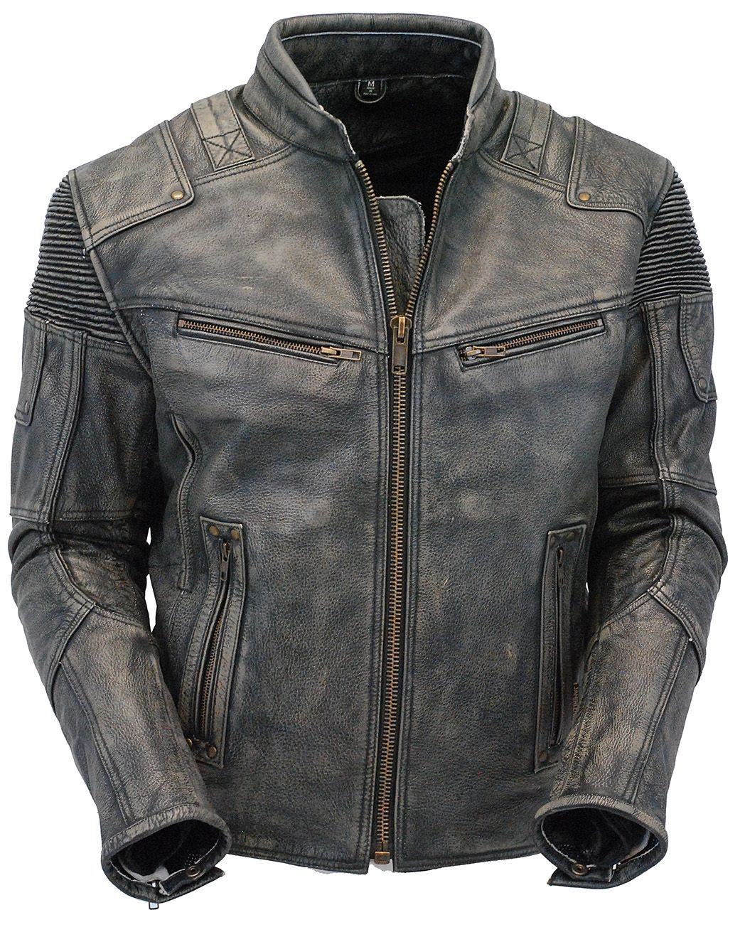 Men S Ultimate Vintage Gray Vented Racer Jacket W Ccw Pockets Ma6633vzgy Leather Jacket Outfit Men Leather Jacket Gray Leather Jacket Outfit [ 1304 x 1048 Pixel ]
