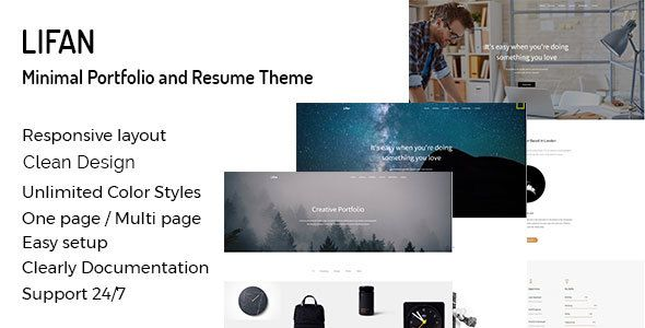 Lifan Personal Resume And Portfolio Wordpress Theme Is A High