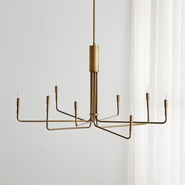 Clive Large Brass Chandelier Reviews Crate And Barrel Brass