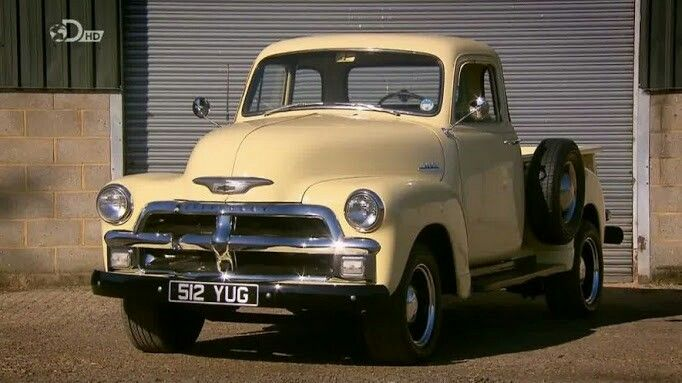 """1954 Chevy stepside pick-up. Featured on the """"Wheeler Dealers"""" telivision show."""
