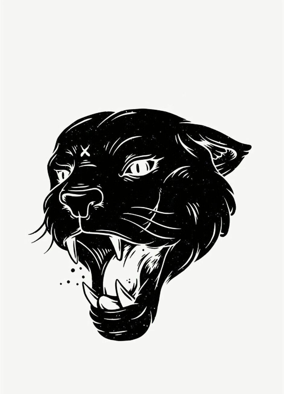 Открытки розы, пантера черно белая картинка