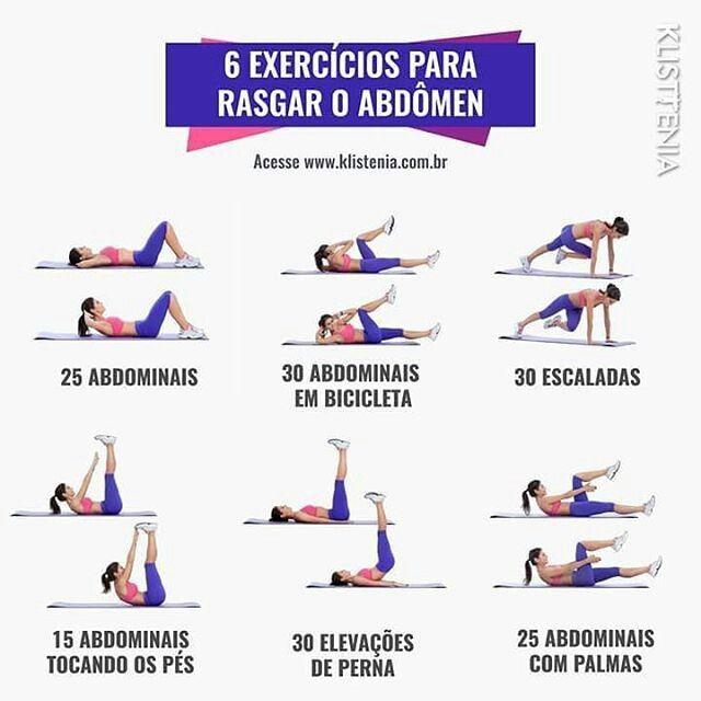 6 Exercicios Para Rasgar O Abdomen Treinos Para Barriga