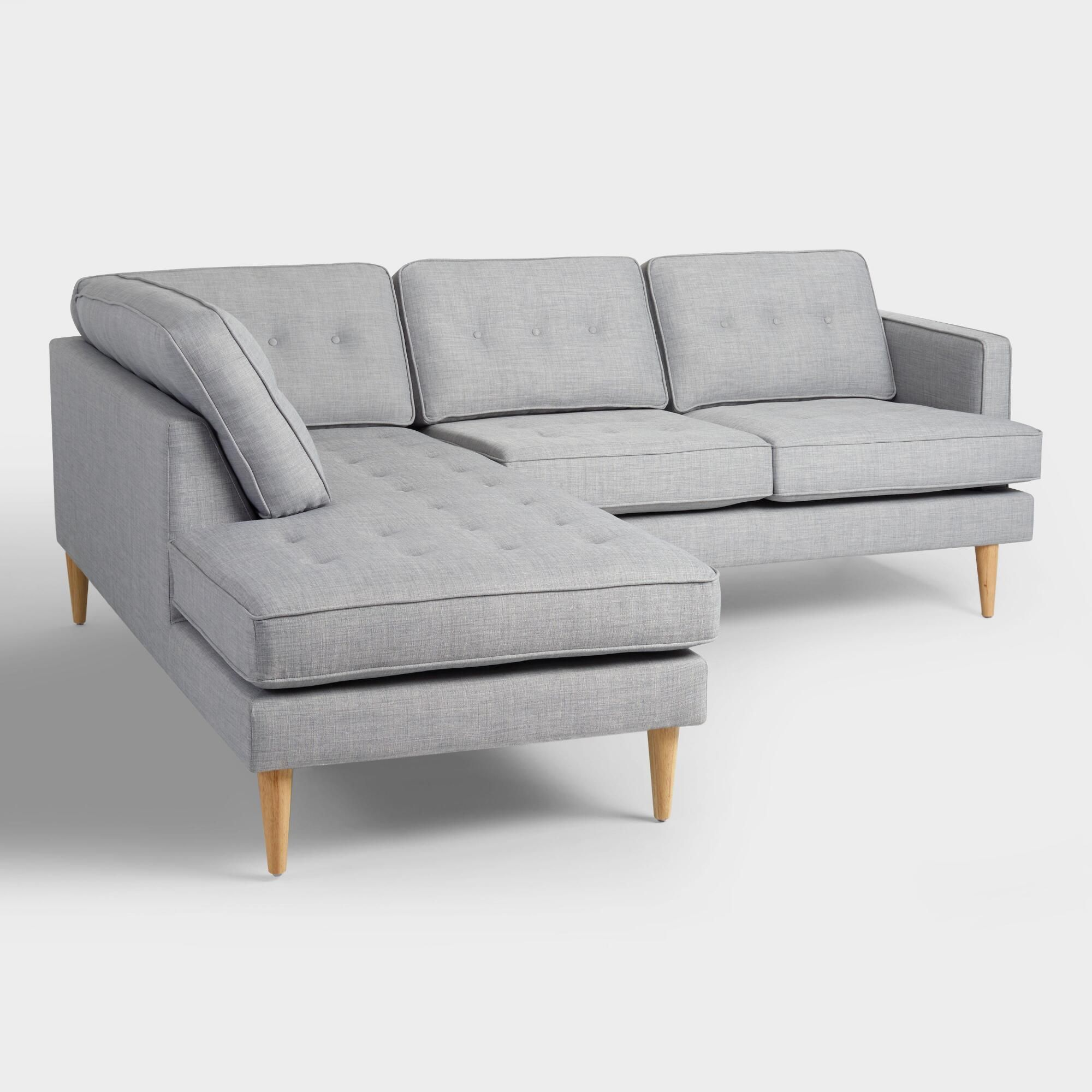 Surprising Dove Gray Woven Apel Sectional Sofa With Chaise By World Gmtry Best Dining Table And Chair Ideas Images Gmtryco