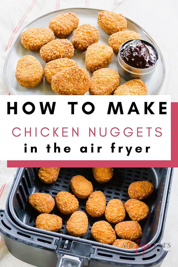 Air Fryer Frozen Chicken Nuggets Air Fryer Eats Recipe
