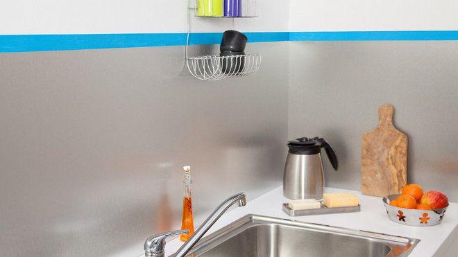 poser une crdence de cuisine en aluminium - Comment Poser Une Credence De Cuisine