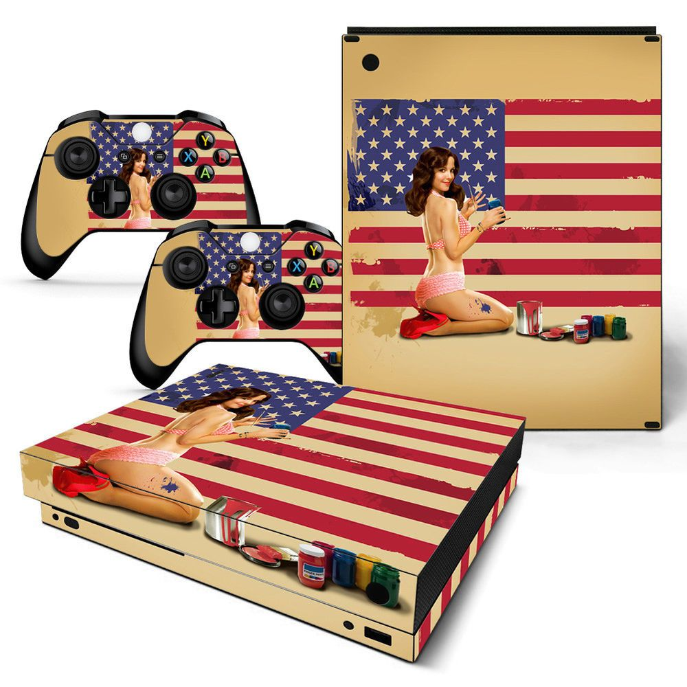 Details About Xbox One X Console Skin Decal Sticker USA