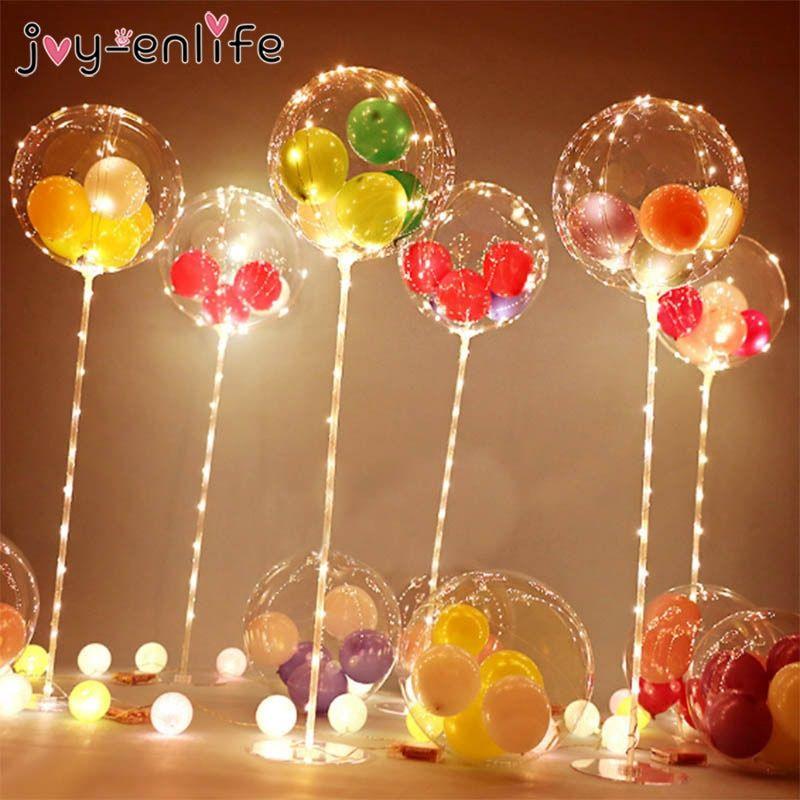 bd43b40ce3 2019 的 1set Balloons Holder Column Stand Bobo Balloons LED Lights ...