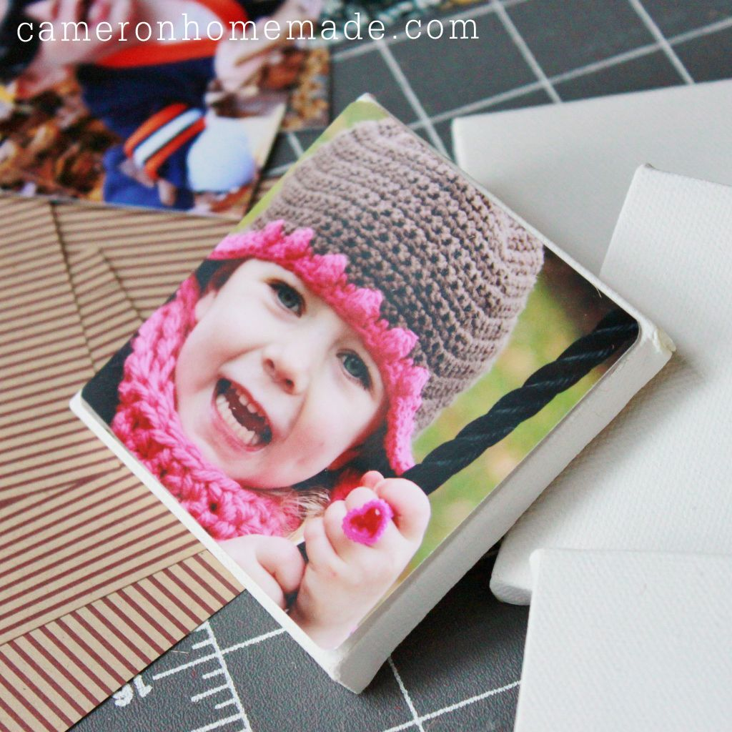 Homemade DIY Projects & Tips by Cameron: Last Minute Gift - DIY Photo Canvas